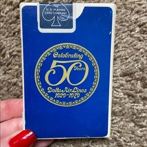 Vintage 1970s Playing Cards Decor DELTA Airlines